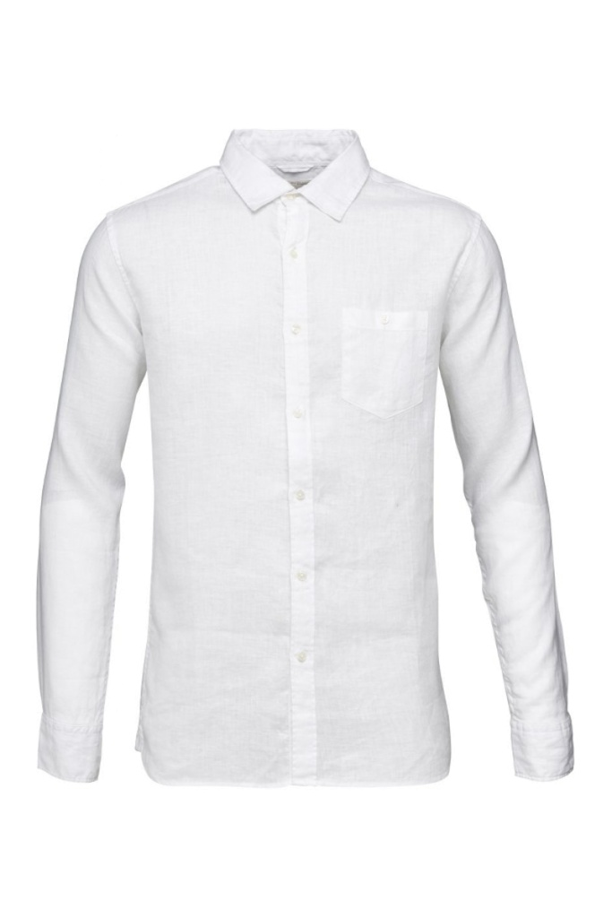 Fabric Dyed Linen Shirt - Bright White